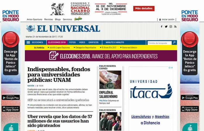 Preocupa a SIP ataques del PAN contra El Universal