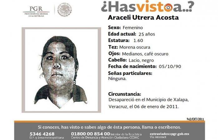 Piden ayuda para hallar a Araceli Utrera Acosta