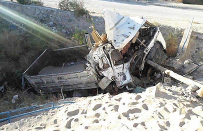 Se desbarranca dompe en Ciudad Juárez