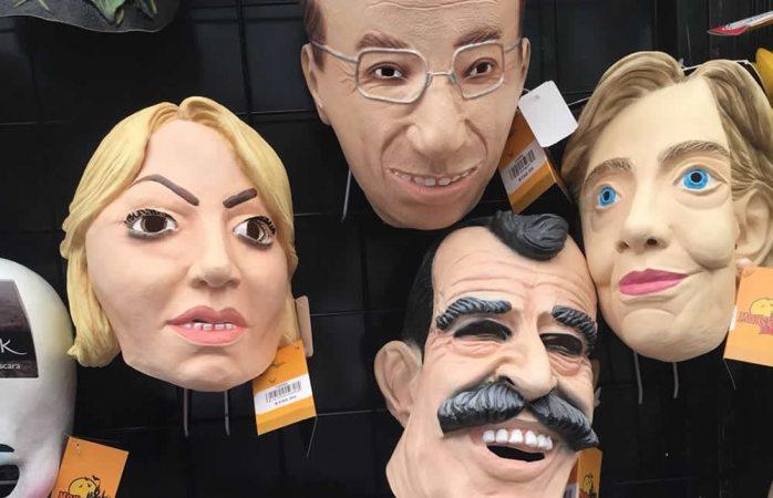 Venden máscaras de políticos para asustar en día de hallowen