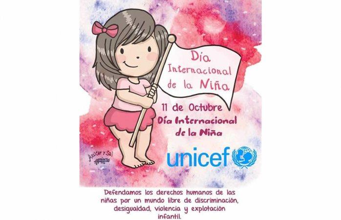 Urge Unicef a proteger derechos de las niñas en el marco de su día