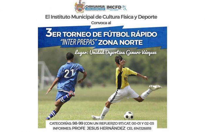 Invitan a inscribirse en el tercer Torneo Interprepas de fútbol rápido