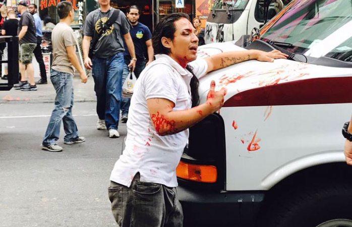 Ladrón salta por la ventana de una tienda en NY