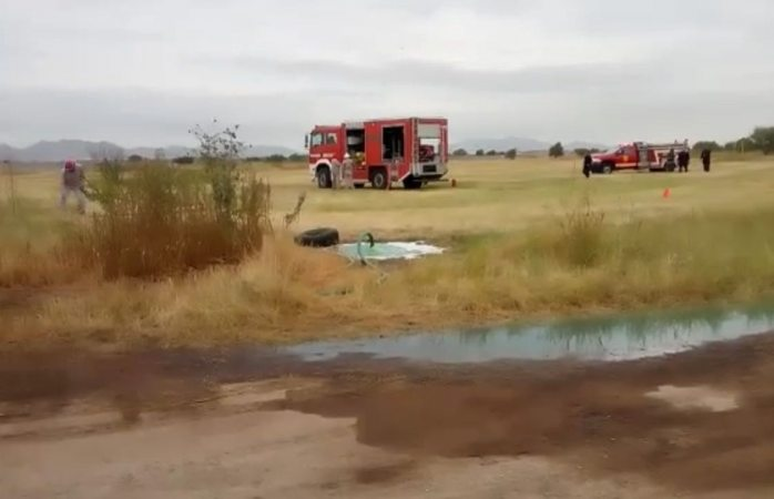 Gran operativo por fuga en toma clandestina de combustible