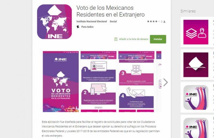 Lanza INE app para que mexicanos en extranjero se registren como votantes
