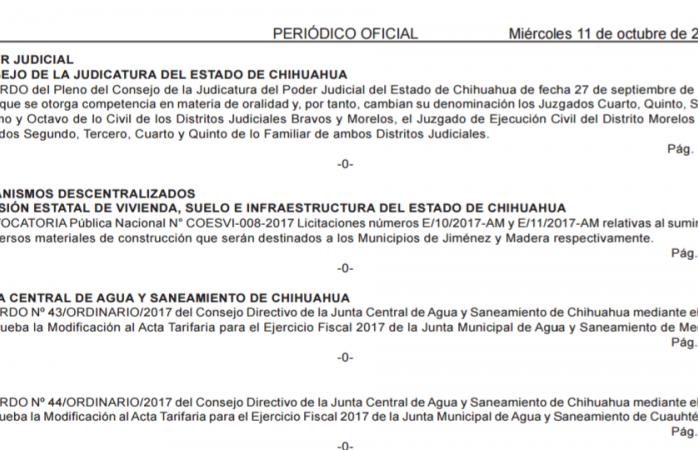 Publican acuerdo de cambio de modalidad de 9 salas del TSJ