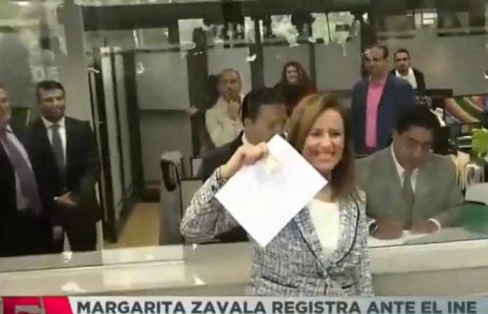 Se registra Zavala para independiente