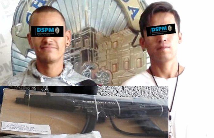Capturan a dos armados que se metieron a casa