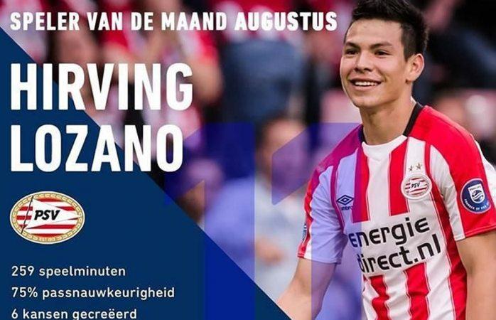 Nombran a Hirving Lozano el Mejor Jugador de Agosto