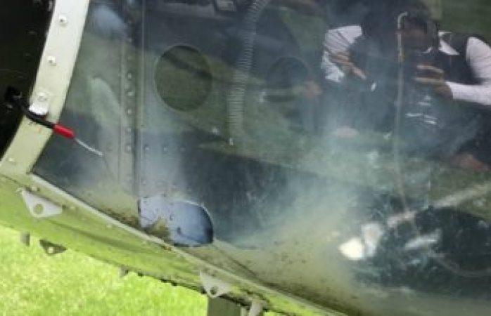 Helicóptero de la Presidencia es impactado por cohetón en Oaxaca