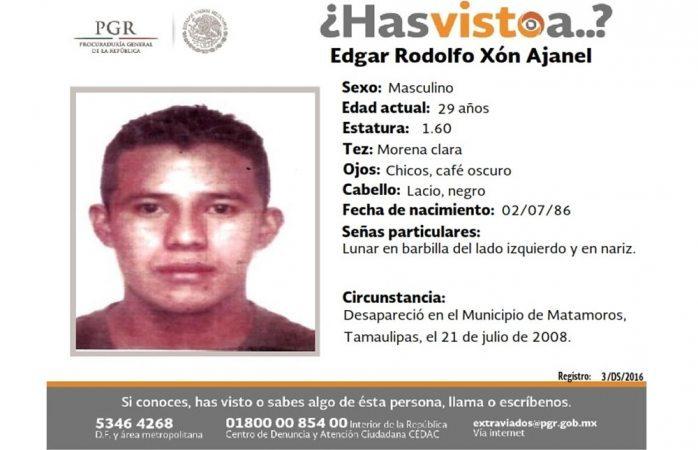Piden ayuda para hallar a Edgar Rodolfo Xón Ajanel