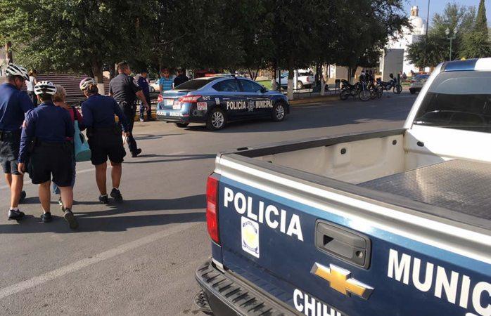 Auxilian policías a víctima de extorsión en el centro