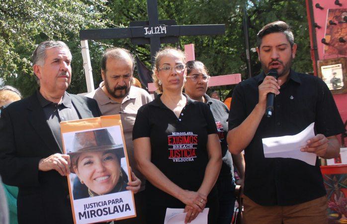 Protesta por los 6 meses del homicidio de  Miroslava