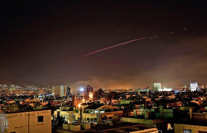 Video: primeras imágenes de bombardeo en Siria