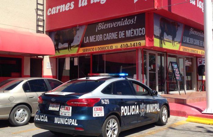 Asaltan carnicería en Ortiz Mena