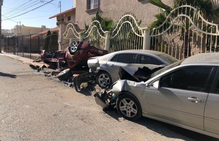 Aparatoso accidente en Juárez