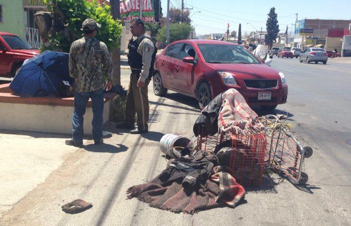 Atropellan a indigente en la Juárez