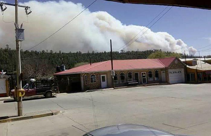Incendio forestal amenaza comunidad de El Largo Maderal
