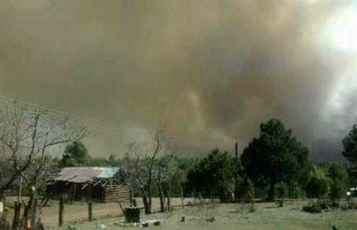 Temen que incendio en Madera alcance las casas de El Oso