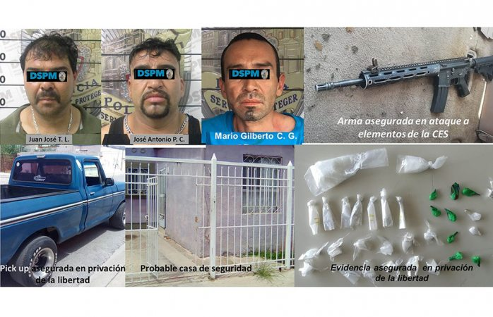 Son foráneos los últimos detenidos por delitos de alto impacto