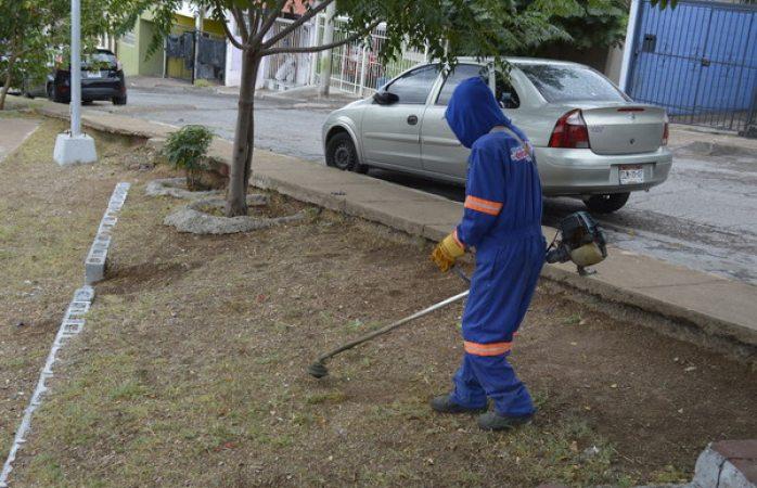 Limpió Mantenimiento Urbano 40 mil metros cuadrados de espacios públicos