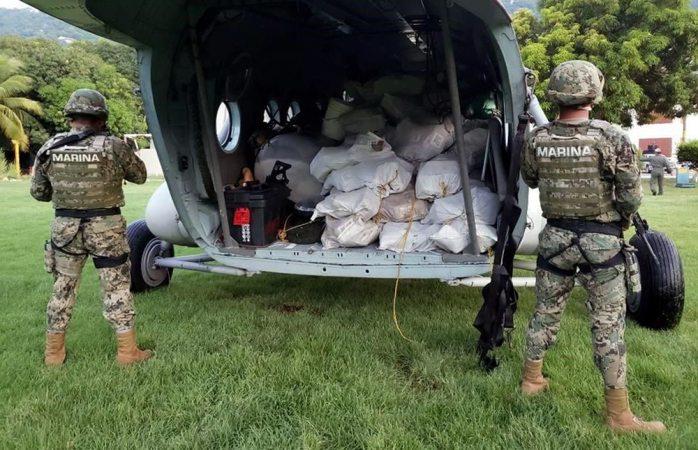 Marina realiza megadecomiso de cocaína en costas de Guerrero