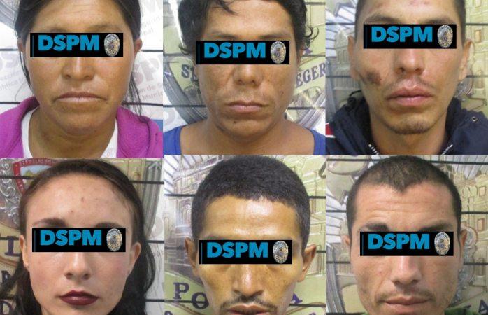 Detienen a siete ladrones; uno tenía 14 años