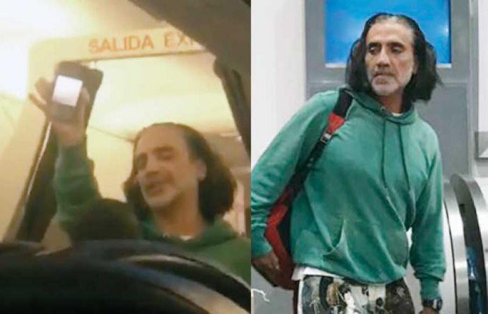 Alejandro Fernández bien borracho siembra el pánico en un avión
