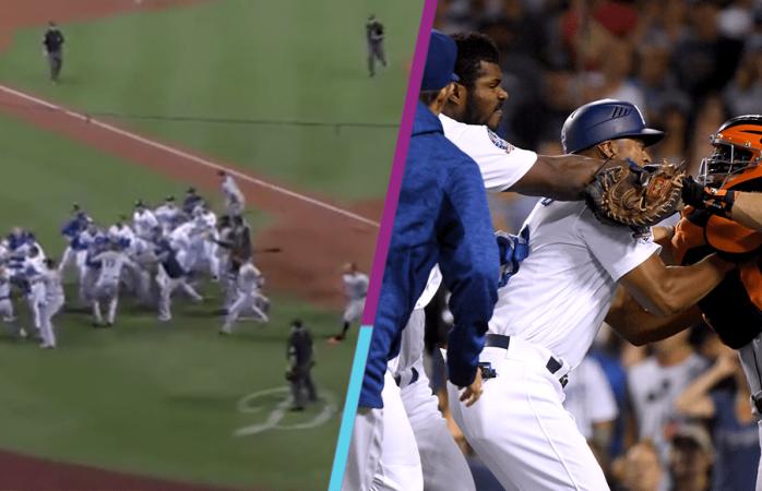 Así se puso la bronca entre Dodgers y Gigantes en las grandes ligas
