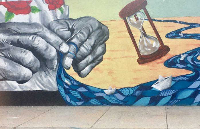 Inician con pinturas para festival Mural es Riberas