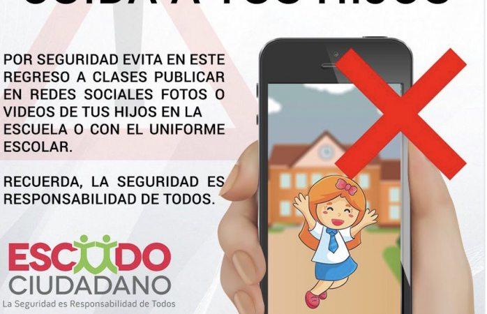 Advierten riesgos al publicar fotos de menores de regreso a clases