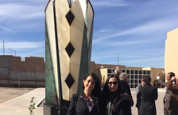 Devela escultora Berta Rivas El Manzano en Cuauhtémoc