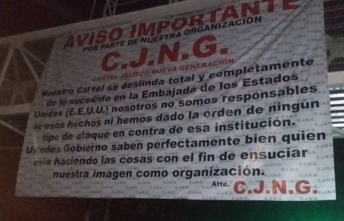 Se deslinda cártel Jalisco nueva generación de ataques a consulado de EU