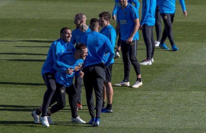 Ya entrena boca juniors en Madrid