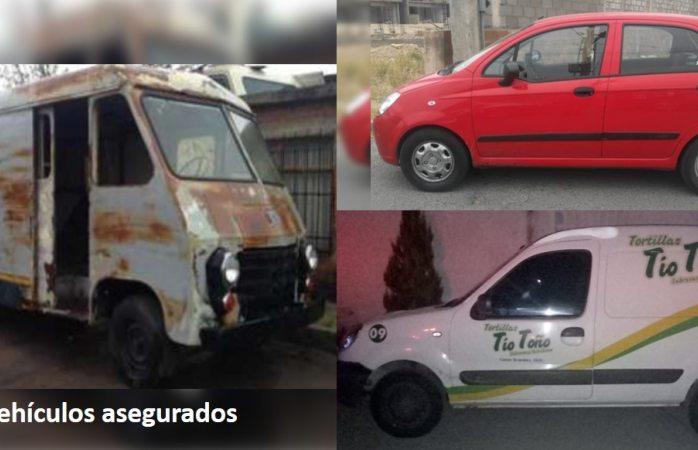 Recuperan vehículos robados
