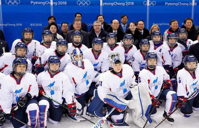 Histórico partido de hockey en Juegos Olímpicos de Invierno