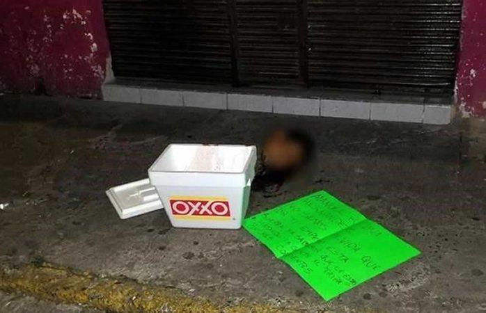 Abandonan cabeza humana con narcomensaje en Guadalajara