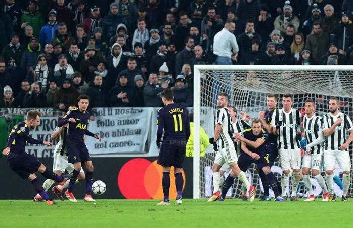 Tottenham da la sorpresa y saca empate frente al Juventus