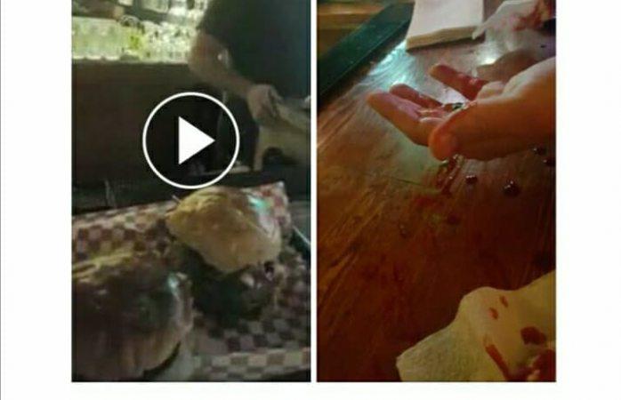 Promocionan hamburguesas con vídeo de pleito fingido