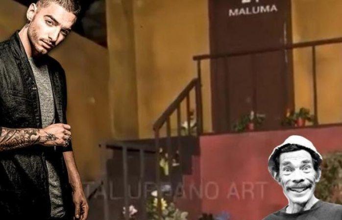 Maluma vivió en la vecindad del Chavo y grabó vídeo con Don Ramón