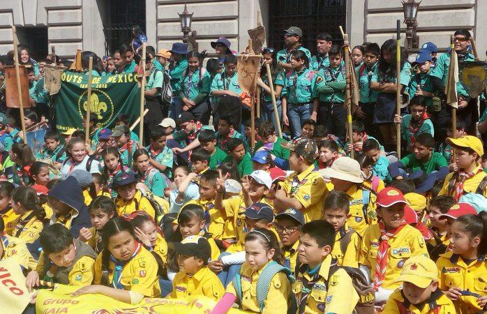 Celebran scouts 157 aniversario del nacimiento de su fundador
