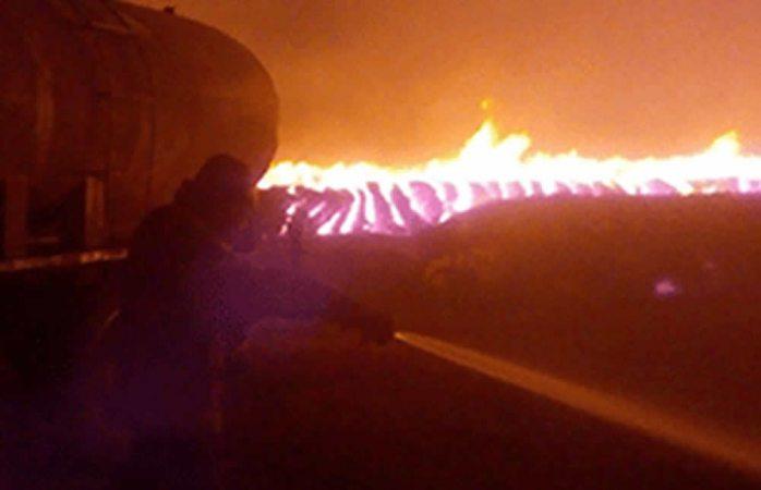 Se quemaron 15 mil pacas de algodón en Sueco