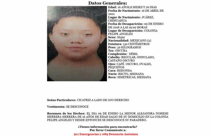 Solicitan ayuda para localizar a desaparecida en Juárez