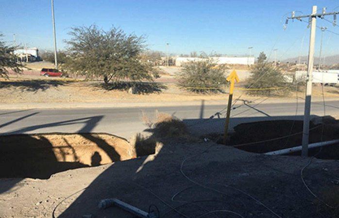 Se abren tres hoyancos en el drenaje de Ciudad Juárez