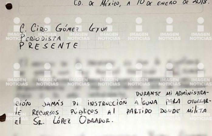 Javier Duarte niega apoyar económicamente a Amlo