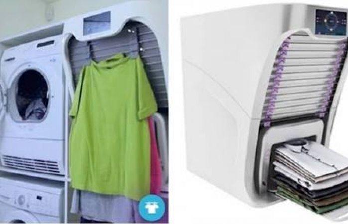 Crean máquina que plancha, dobla y perfuma la ropa en cuatro minutos