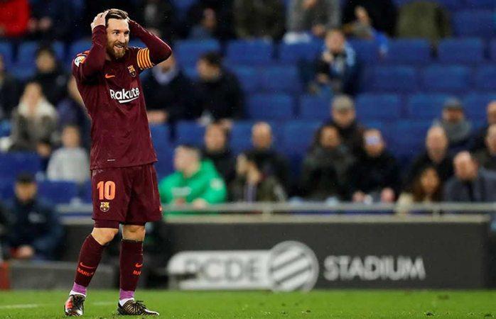 Barça pierde el invicto ante el Espanyol