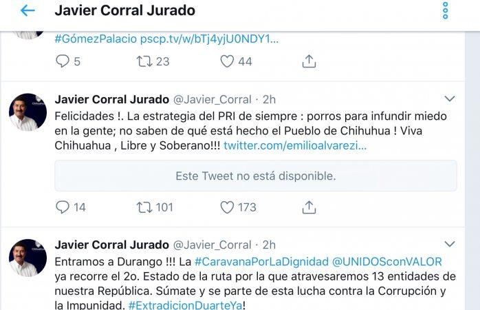 Porros del PRI, su estrategia infundir miedo: Corral