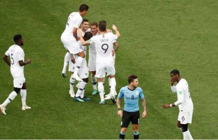 Francia liquida a Uruguay y firma su pase a Semifinales de Rusia 2018