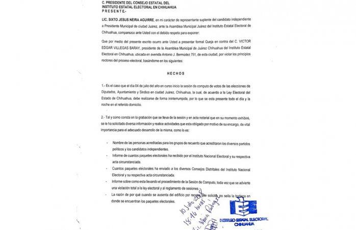 Presentan queja vs presidente de AMEJ por interrumpir cómputo